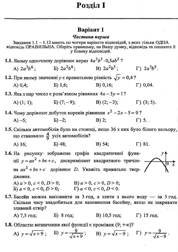 Дпа (гиа) 2014 9 клас математика, біология, українська мова.