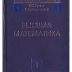 Бугров Я. С.  Высшая математика. Том 1: Элементы линейной алгебры и аналитической геометрии